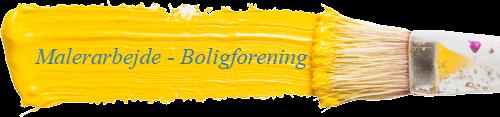 Malerarbejde - Boligforeninger